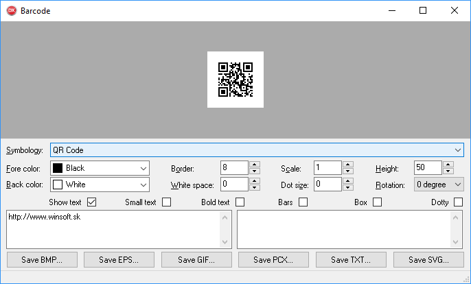 Winsoft Barcode 4.2 Delphi/C++ Builder 5 - 10.3 Full Source Code