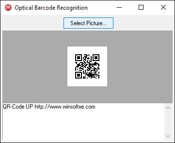Optical Barcode Recognition demo example
